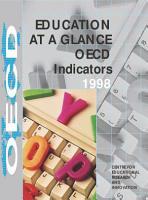 Education at a Glance 1998 OECD Indicators PDF