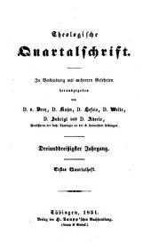 Theologische Quartalschrift: ThQ, Band 33