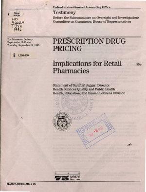 Prescription Drug Pricing PDF