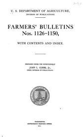 Farmers' Bulletin: Issues 1126-1150