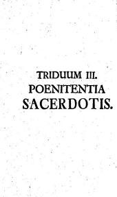 Secessus Triduani Sacerdotales Octo: Poenitentia Sacerdotis. Triduum III.