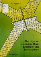 The Nigerian Journal of Rural Extension and Development PDF