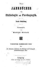 Neue Jahrbücher für Philologie und Pädagogik: Band 78