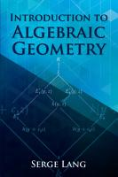 Introduction to Algebraic Geometry PDF