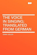 The Voice in Singing  Translated from German PDF
