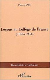 Leçons au Collège de France: (1895-1934)