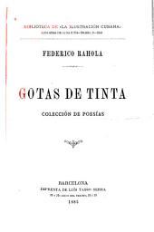 Gotas de tinta: colección de poesías