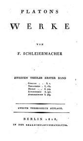 Werke: Gorgias. Theaitetos. Menon. Euthydemos. Anmerkungen, Band 2,Ausgabe 1
