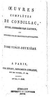 Œuvres complètes de Condillac: Volumes22à23