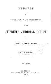 The New Hampshire Reports: Volume 51