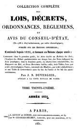 Collection complète des lois, décrets d'intérêe général, traités internationaux, arrêtés, circulaires, instructions, etc: Volume31