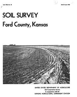 Soil Survey of Ford County  Kansas Book
