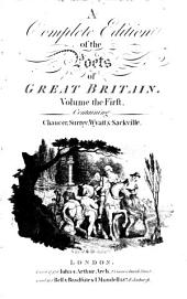 The works of the British poets. With prefaces: Volume 1