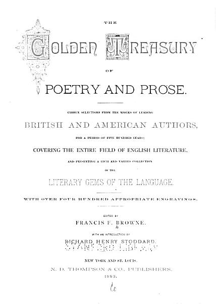 Download The Golden Treasury of Poetry and Prose Book
