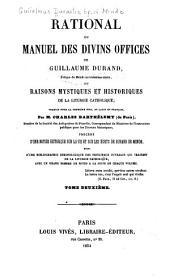 Rational, ou, Manuel des divins offices: Volume2