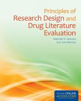 Principles of Research Design and Drug Literature Evaluation PDF