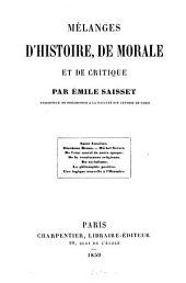 Mélanges d'histoire, de morale et de critique