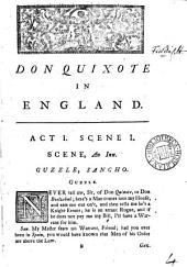 Don Quixote in England. A comedy: Volume 4