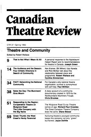 Canadian Theatre Review PDF