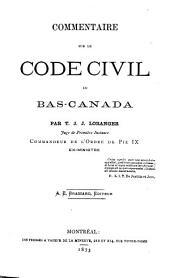 Commentaire sur le Code civil du Bas-Canada