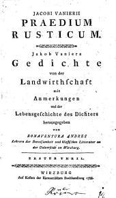 Jacobi Vanierii Praedium rusticum: Jakob Vaniers Gedichte von der Landwirthschaft