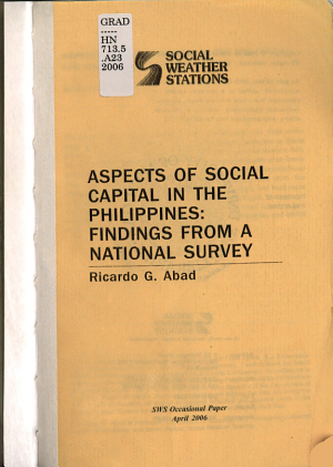 Aspects of Social Capital in the Philippines PDF