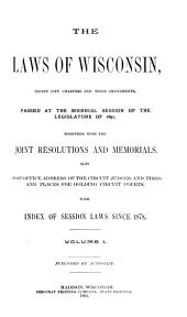 Laws of the State of Wisconsin: Volume 1