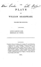 The Plays of William Shakspeare: With the Corrections and Illustrations of Various Commentators, to which are Added Notes, Volume 7