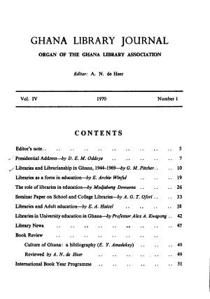 Ghana Library Journal PDF