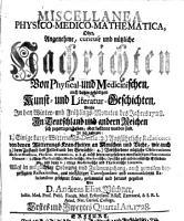Miscellanea physico medico mathematica PDF