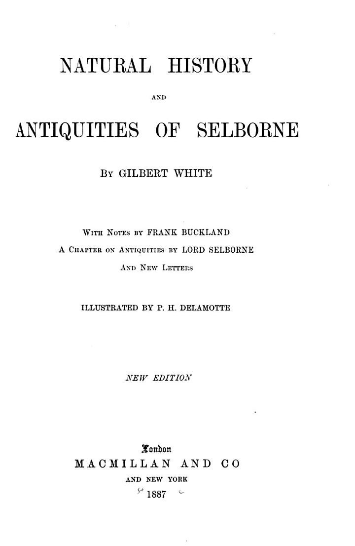 Natural History and Antiquities of Selbourne