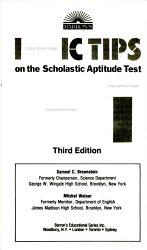 Barron s Basic Tips on the Scholastic Aptitude Test  SAT PDF