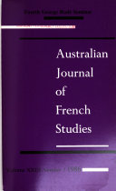 Download Australian Journal of French Studies Book