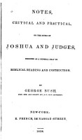 Notes  Critical and Practical  on the Books of Joshua and Judges PDF