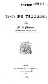 Notice sur Charles Joseph de Villers