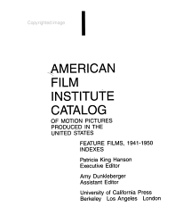 The American Film Institute Catalog Of Motion Pictures Produced In The United States Book PDF