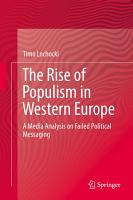 The Rise of Populism in Western Europe PDF