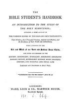 The Bible student s handbook PDF