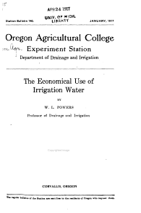 Station Bulletin   Agricultural Experiment Station  Oregon State College PDF