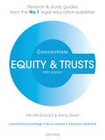 Equity and Trusts PDF