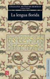 La lengua florida: Antología sefardí