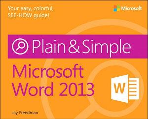 Microsoft Word 2013 Plain   Simple