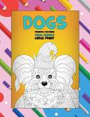 Mandala Coloring Magic Animals - Large Print - Dogs