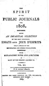 The Spirit of the Public Journals: Volume 12