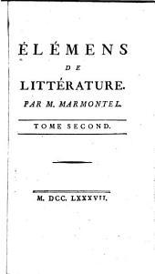 Élémens de littérature: Volume2