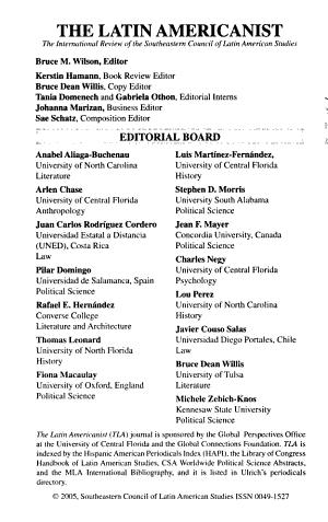 The Latin Americanist PDF