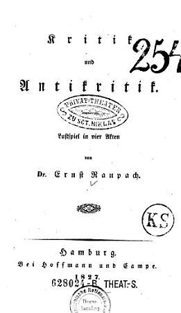 Kritik und Antikritik PDF