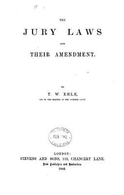 The Jury Laws and Their Amendment PDF