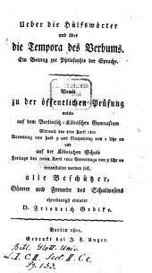 Ueber die Hülfswörter und über die Tempora des Verbums: Ein Beitrag zur Philosophie der Sprache ...