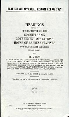Real Estate Appraisal Reform Act of 1987